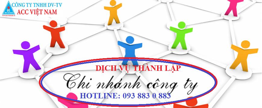 Dịch vụ thành lập chi nhánh công ty