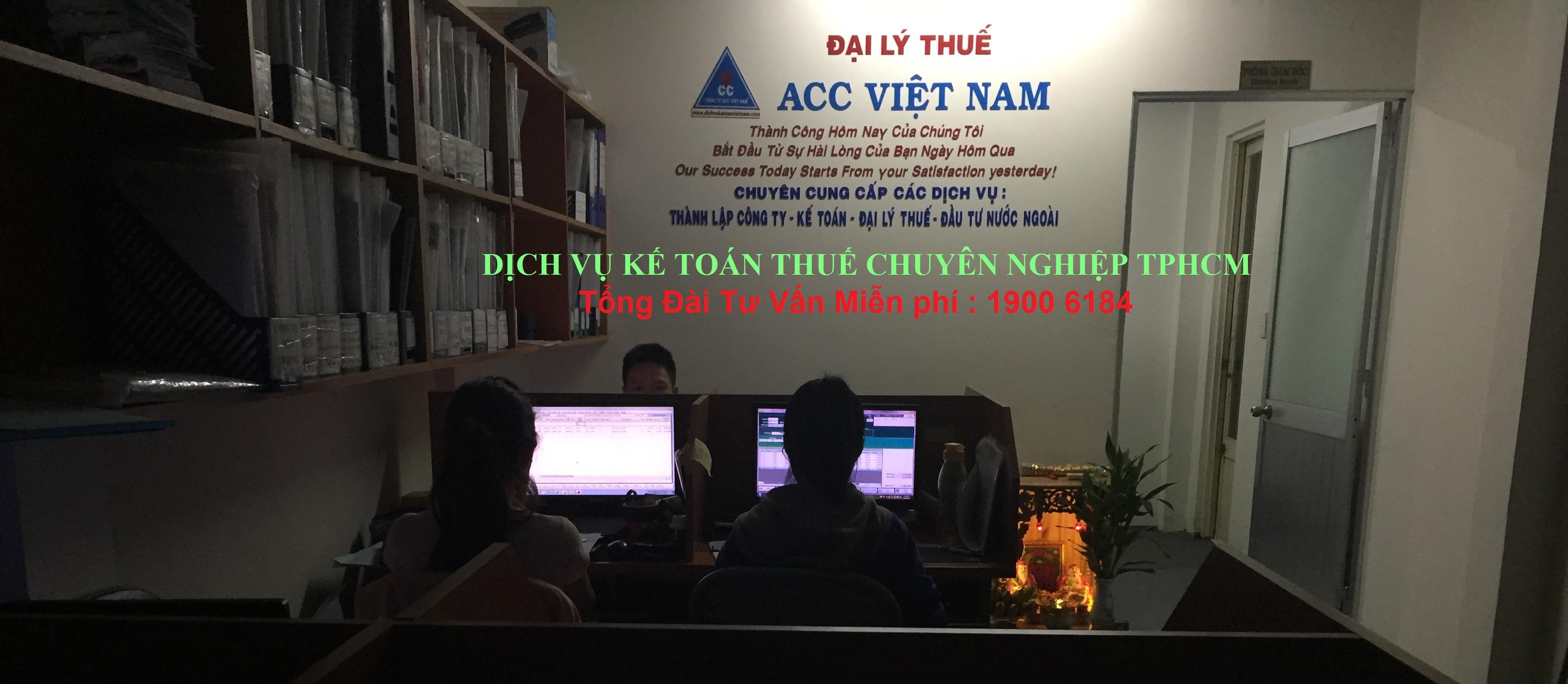 Dịch Vụ Kế Toán thuế chuyên nghiệp TPHCM