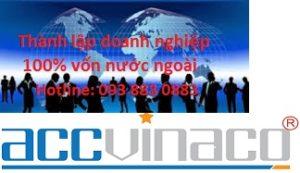 Thành lập công ty xây dựng 100% vốn nước ngoài