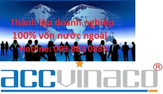 Tư vấn thành lập doanh nghiệp 100% vốn nước ngoài