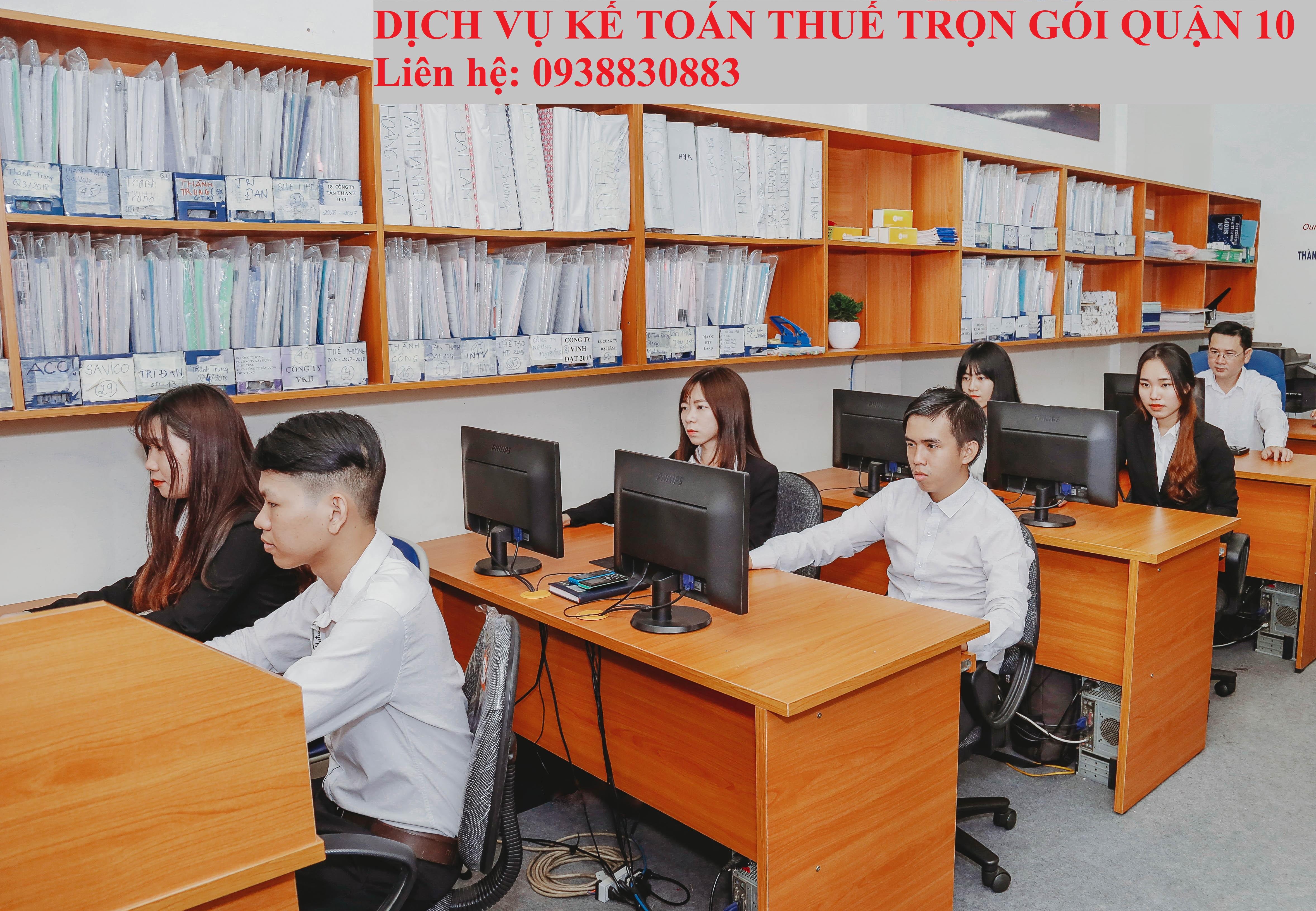 Dịch vụ kế toán Thuế Quận 10