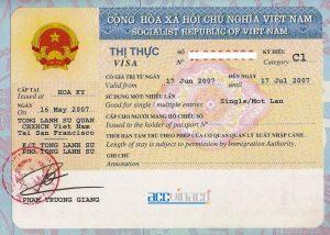 Visa cho người nước ngoài tại Việt Nam