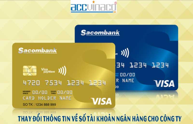 Thay đổi thông tin về số tài khoản ngân hàng cho công ty